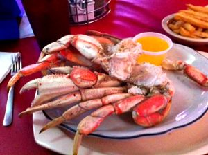 Dungeness crab at Jack Dempsey's, New Orleans